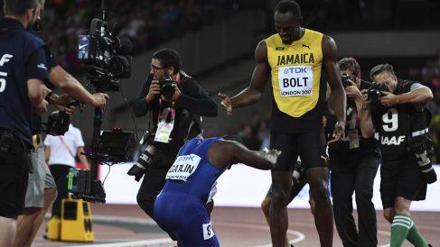 Gatlin campeón del mundo (Foto: AFP)