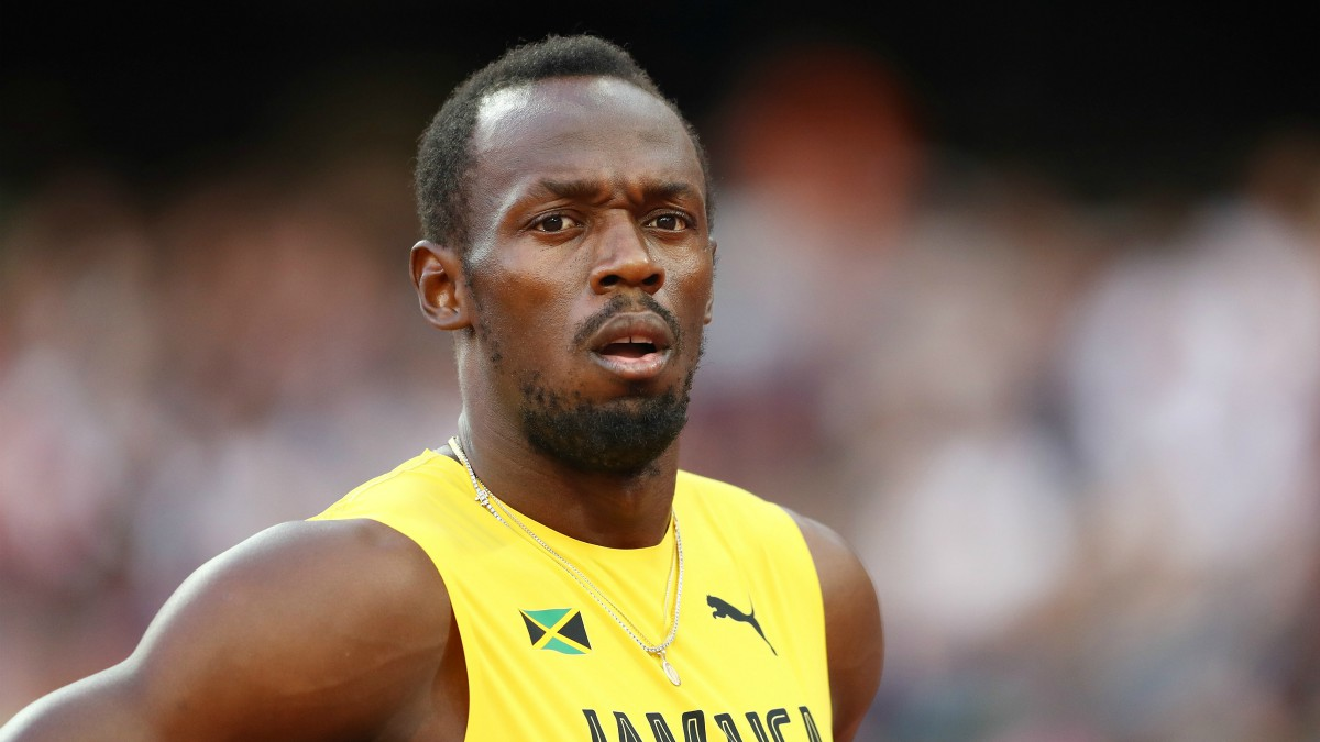 Usain Bolt, antes de una carrera en el Mundial de Londres. (Getty)