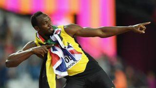 Usain Bolt, después de su última carrera individual como profesional. (Getty)