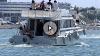 La familia de Ángel Nieto depositó sus cenizas en el mar de Ibiza.