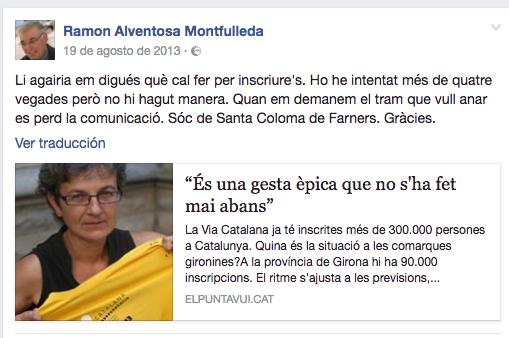 Mossén' Alventosa habla de participar en la 'Vía Catalana'
