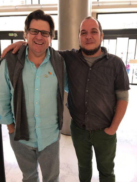 El presidente de la ANA, Pedro Ignacio Altamirano con el exdiputado de la CUP David Fernández (Foto:Twitter)