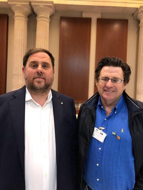 El presidente de la ANA, Pedro Ignacio Altamirano, con Oriol Junqueras