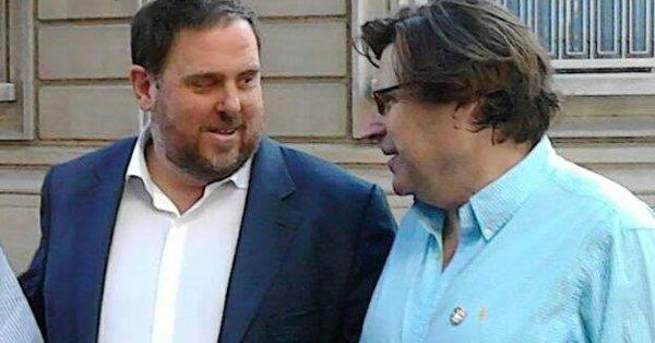 El presidente de la ANA, Pedro Ignacio Altamirano y Oriol Junqueras