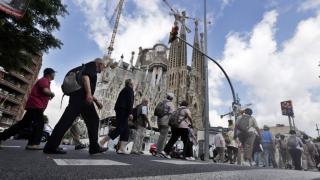 Visitantes por las calles de Barcelona (Foto. Getty)