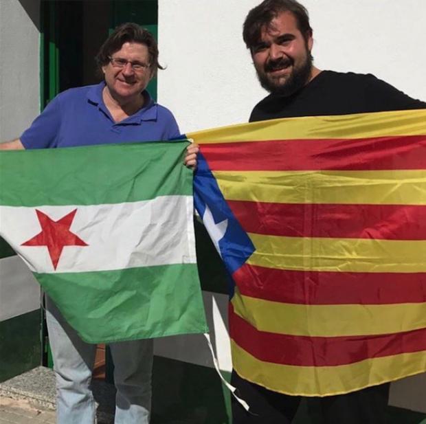 El presidente de la ANA, Pedro Ignacio Altamirano, con Oscar Reina