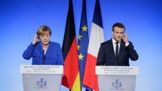 Emmanuel Macron y Angela Merkel. (Foto: EFE)