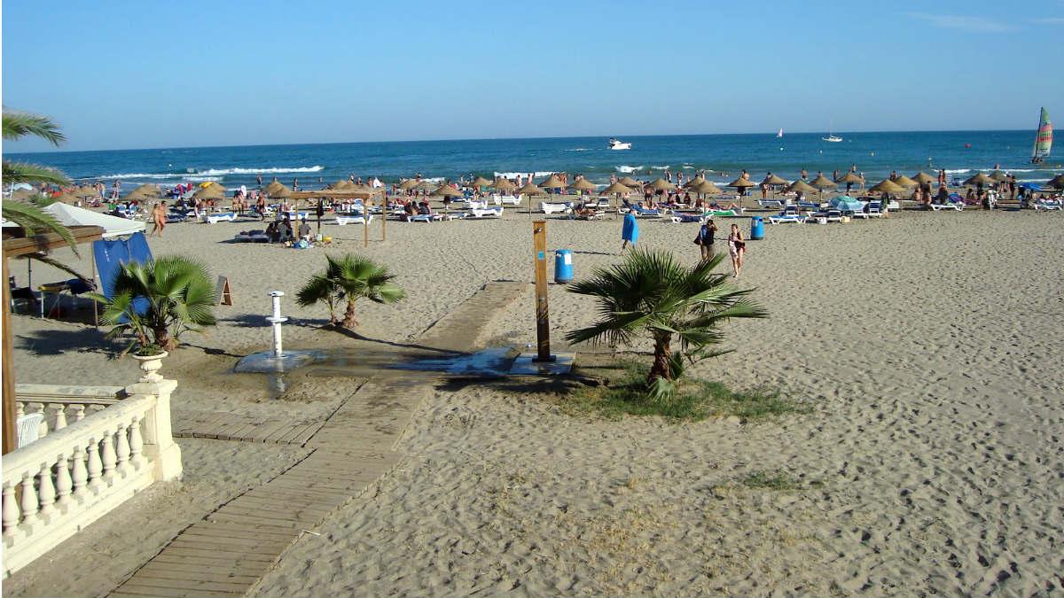 Playa de Voramar, en Benicásim (Castellón), donde se ha producido el suceso.