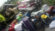 Escena del accidente en el que murieron los voluntarios de la Fundación Vicente Ferrer en la India. (Foto: The Hindu)