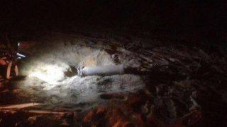 Cohete caído en la ciudad israelí de Ashkelon, lanzado desde la Franja de Gaza.