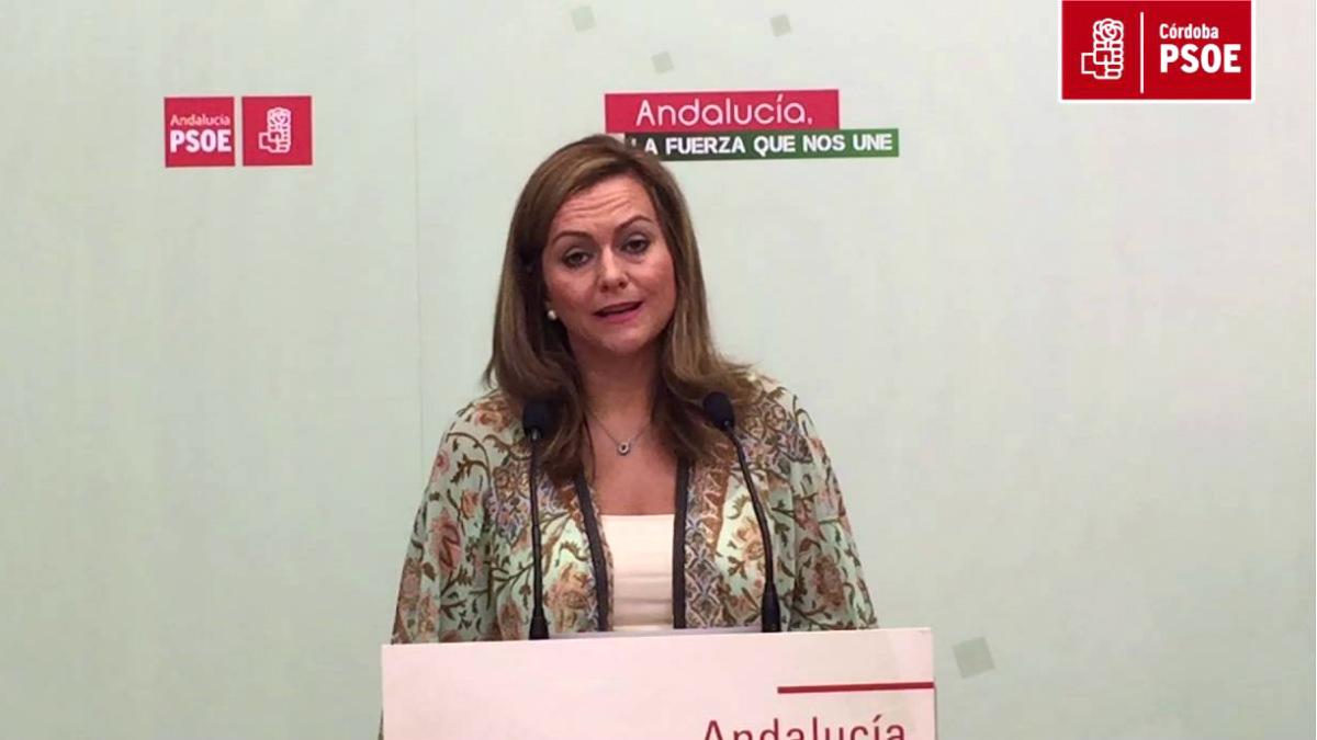 María Jesús Serrano, secretaria de Política Municipal del PSOE de Andalucía.