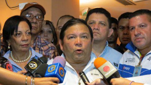 Andrés Velásquez, dirigente de la opositora MUD en Venezuela.