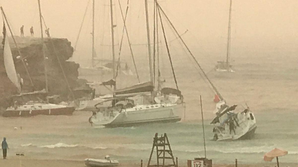 Temporal en Formentera.