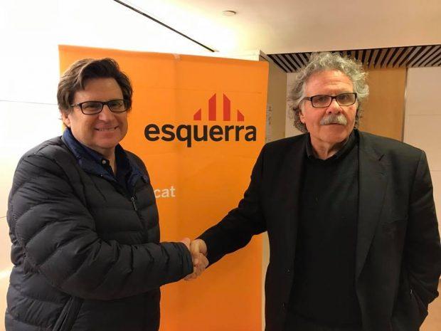 El presidente de la ANA, Pedro I. Altamirano y el portavoz de ERC, Joan Tardá (Foto:Twitter)