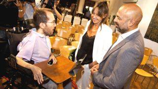 Pablo Echenique, José García Molina e Inmaculada Herranz. (Foto: EFE)