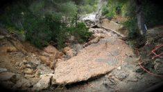 Los desprendimientos por el temporal han dejado intransitables los caminos y carreteras de la zona de Es Cubells (Ibiza).
