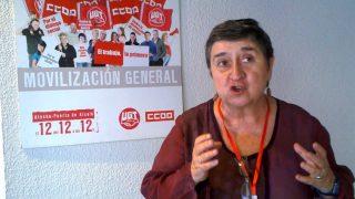 Maite Mola, dirigente de IU que apoya la dictadura de Nicolás Maduro.