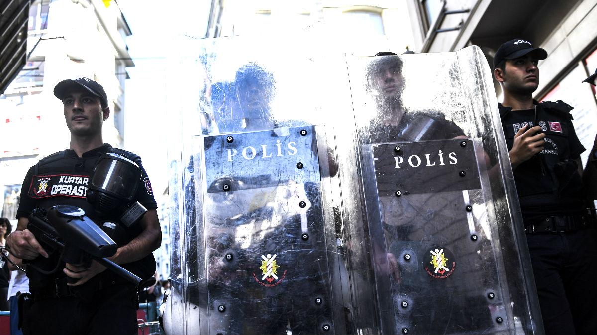 Imagen de agentes de policía de Turquía (Foto: AFP).