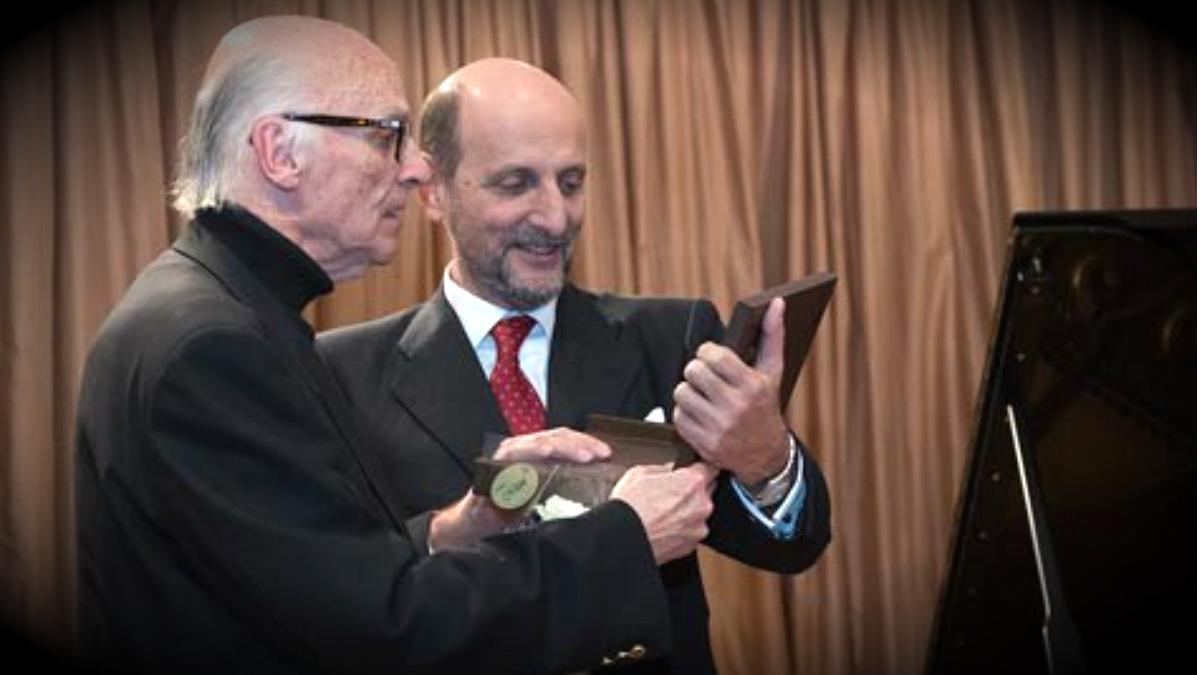 El compositor Xavier Benguerel i Godo, galardonado por la SGAE. (Foto: L.Camacho/SGAE)