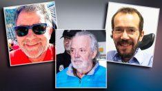El ex policía Antoni Mesquida, el mafioso Tolo Cursach y el secretario de Organización de Podemos Pablo Echenique.
