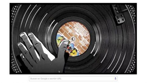El doodle de Google dedicado al hip hop.