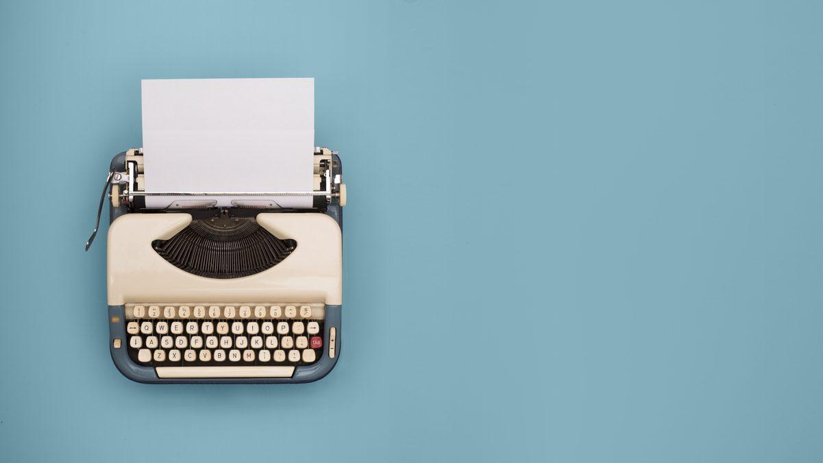 Máquina de escribir (Foto. Istcok)