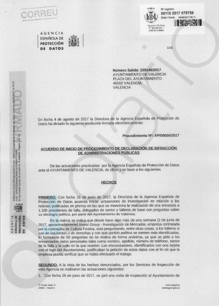 Multa de más de 300.000€ a los 'PSOEpodemitas' de Valencia por hacer de policía política en un sondeo
