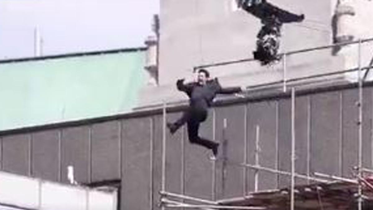 Tom Cruise accidentado.