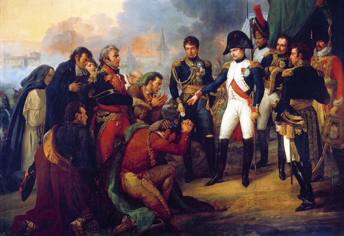 Este obra de Carle Vernet muestra a Napoleón en Chamartín.
