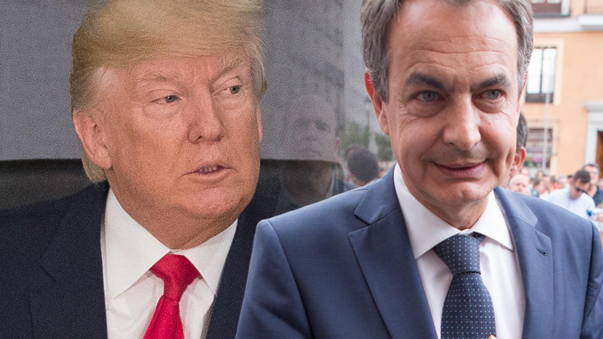 Donald Trump y José Luis Rodríguez Zapatero.