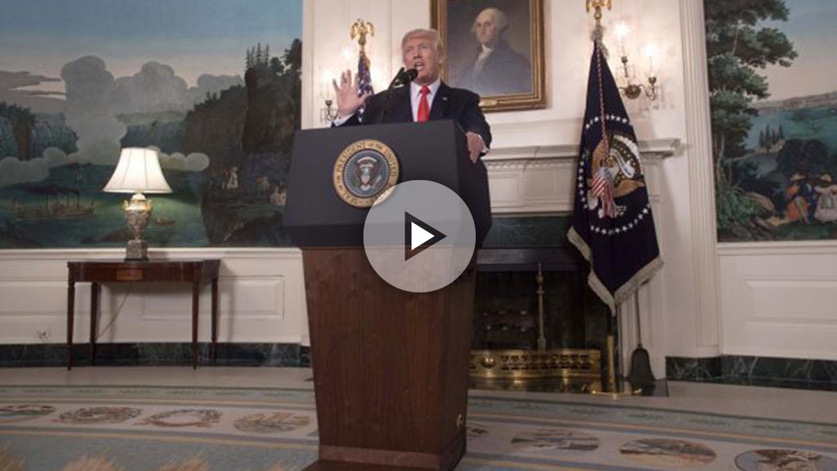 Donald Trump en la Casa Blanca. (Foto: AFP)