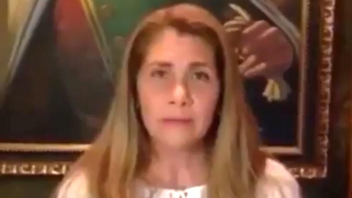 Cruz Baduel, la esposa del general retirado, uno de los 600 presos políticos de Nicolás Maduro en Venezuela.