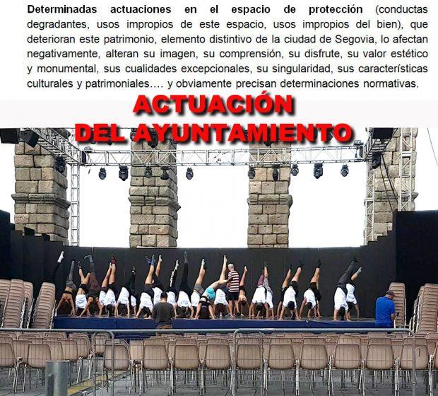El PSOE convoca una consulta para salvar el acueducto de Segovia pero la oculta para seguir dañándolo