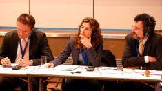 La subdirectora de Interior de la Generalitat, Teresa Casado Cadarso, en un encuentro internacional.
