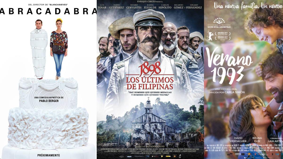 «1898, los últimos de Filipinas», «Abracadabra» y «Verano de 1993» son las tres películas que podrán optar al Oscar a Mejor Película extranjera.