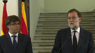 El presidente del Gobierno, Mariano Rajoy, y el ex presidente de la Generalitat, Carles Puigdemont.