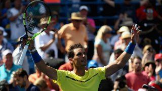 Nadal celebra su victoria ante Albert Ramos. (AFP)