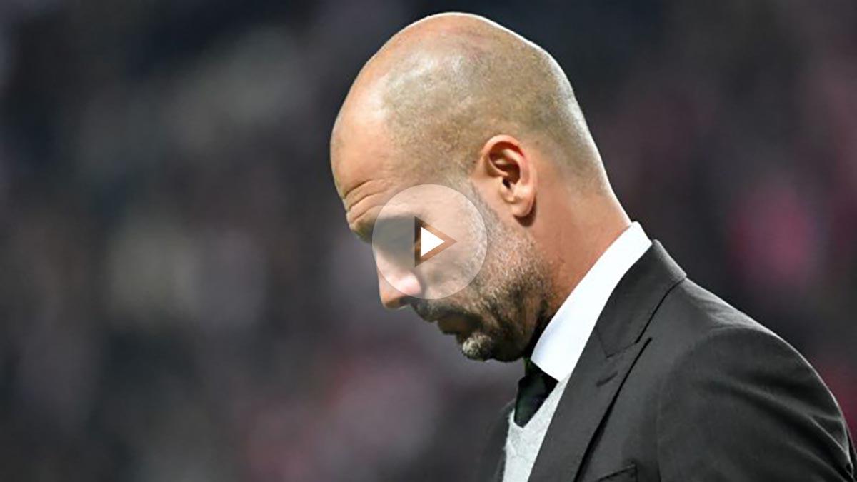 Pep Guardiola recuerda a las víctimas de Barcelona en rueda de prensa. (Getty)