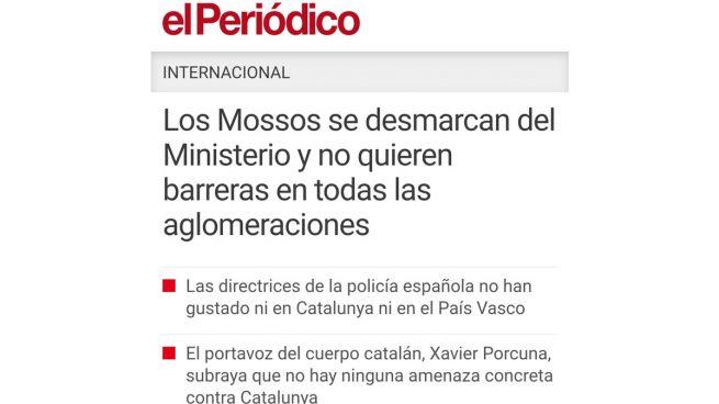 La prensa catalana se hizo eco de la negativa de los Mossos a colocar bolardos en Barcelona como pidió Interior