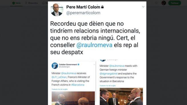 El jefe de Prensa de Puigdemont hace propaganda independentista con los atentados de Barcelona