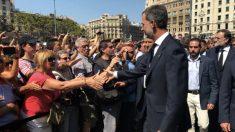 Felipe VI en los actos por los atentados de Barcelona.