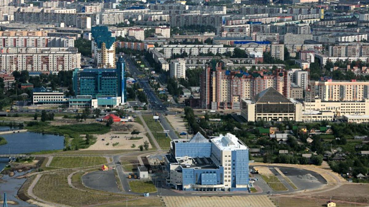 Vista panorámica de la ciudad de Surgut, en la Siberia Occidental rusa.