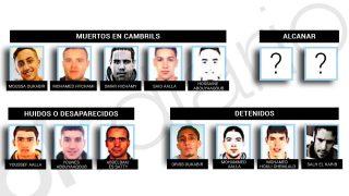 Los integrantes de la célula yihadista de Ripoll que cometieron los atentados de Barcelona y Cambrils.