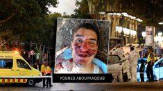 El terrorista huido Younes Aboyaaqoub, una vez abatido.