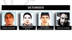 Detenidos por su presunta implicación en los atentados de Barcelona y Cambrils.