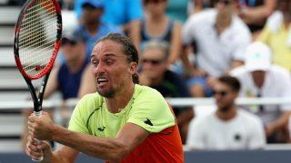 Dolgopolov durante un partido. (AFP)