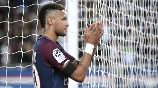 Neymar, tras el partido contra el Tolouse. (AFP)