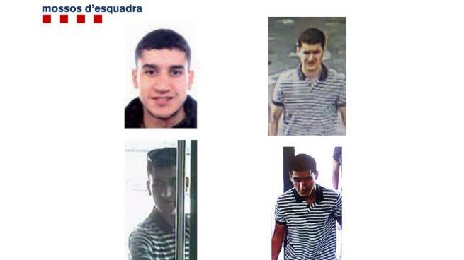Imágenes cedidas por los Mossos en el que se peude ver a El terrorista huido Younes Aboyaaqoub.