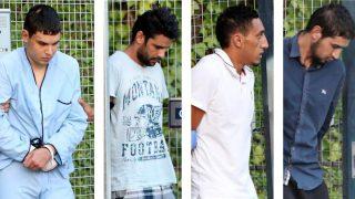 Los cuatro detenidos en relación con los atentados yihadistas cometidos en Barcelona y Cambrils. (Foto: EFE)
