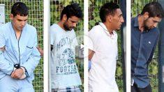 Los cuatro detenidos en relación con los atentados yihadistas cometidos el jueves pasado en Barcelona y Cambrils (Tarragona) Mohamed Houli Chemlal, Mohamed Alla, Dris Oukabir y Salah El Karib. Foto: EFE